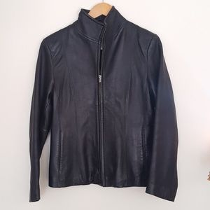 Nine West Black leather jacket